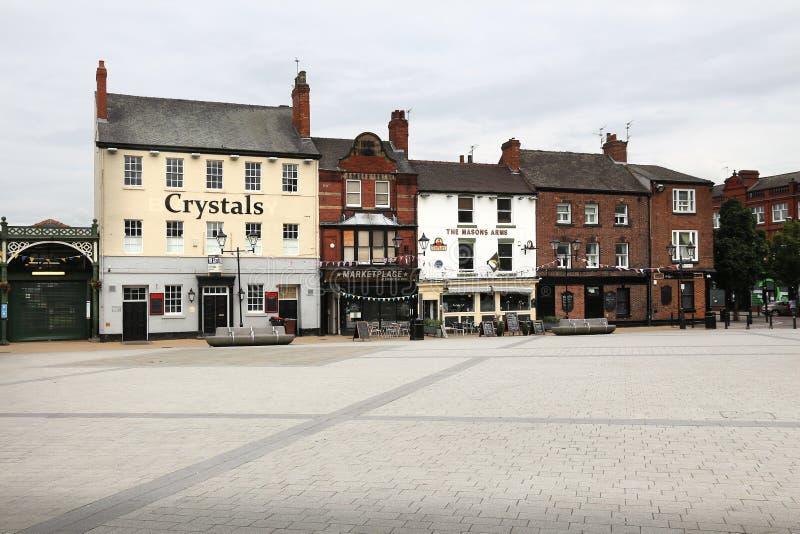 Doncaster - Market Place fotografía de archivo libre de regalías