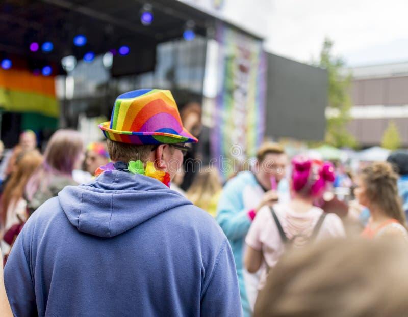 Doncaster orgulho festival do 19 de agosto de 2017 LGBT fotografia de stock royalty free