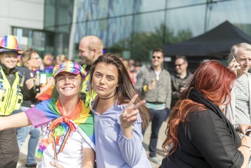 Doncaster orgulho festival do 19 de agosto de 2017 LGBT imagem de stock