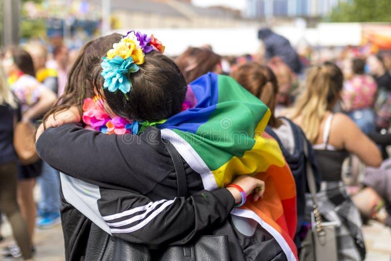 Doncaster orgulho festival do 19 de agosto de 2017 LGBT imagens de stock royalty free
