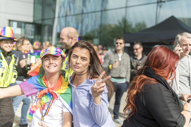 Doncaster orgullo festival del 19 de agosto de 2017 LGBT imagen de archivo