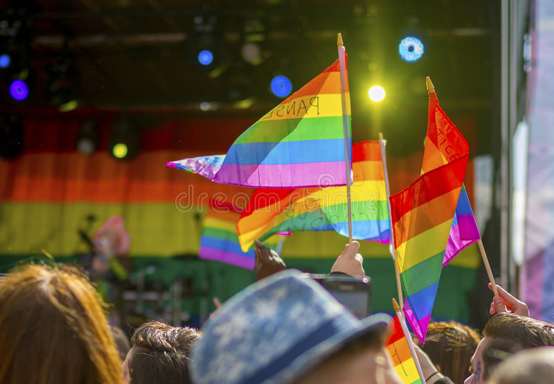 Doncaster Pride 19 Aug 2017 LGBT Festival royalty free stock photos