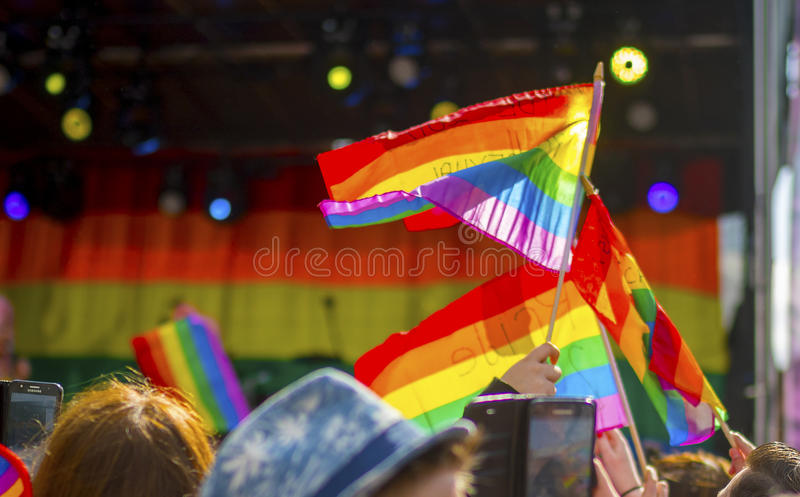 Doncaster Pride 19 Aug 2017 LGBT Festival royalty free stock images