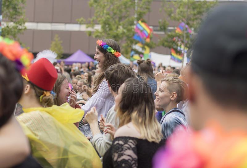 Doncaster stolthet19 Augusti 2017 LGBT festival arkivfoton