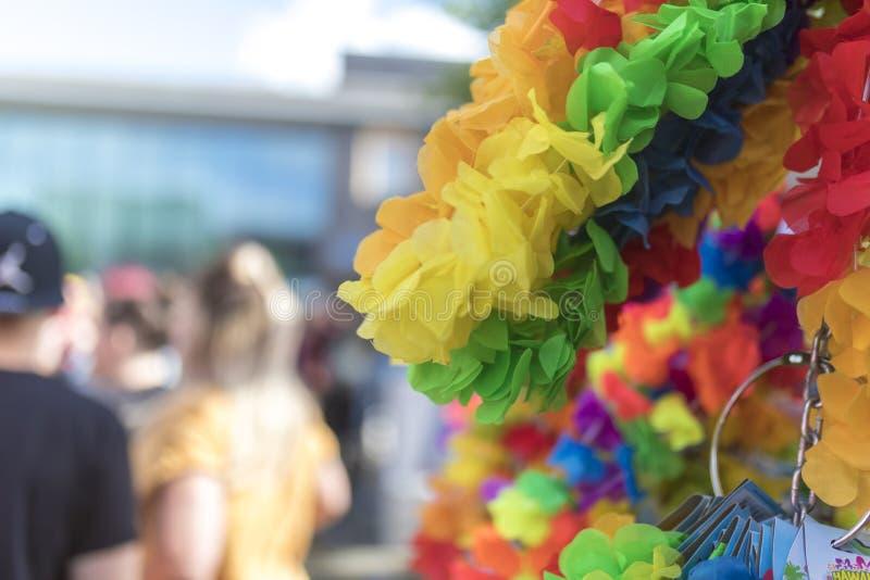 Doncastertrots 19 van het Festivalleis van Augustus 2017 LGBT de koopwaarbox stock foto's