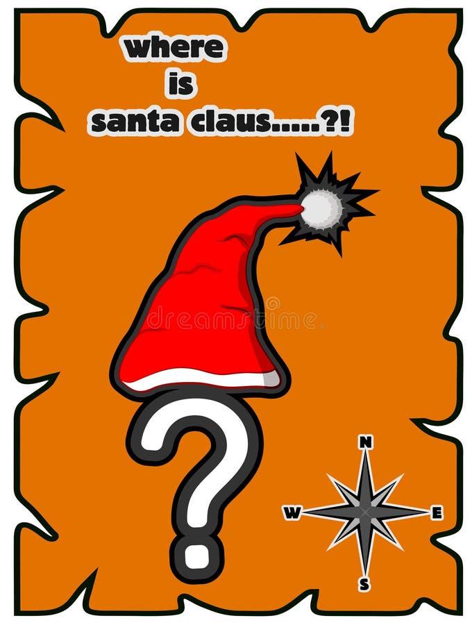 Donde está Papá Noel ilustración del vector