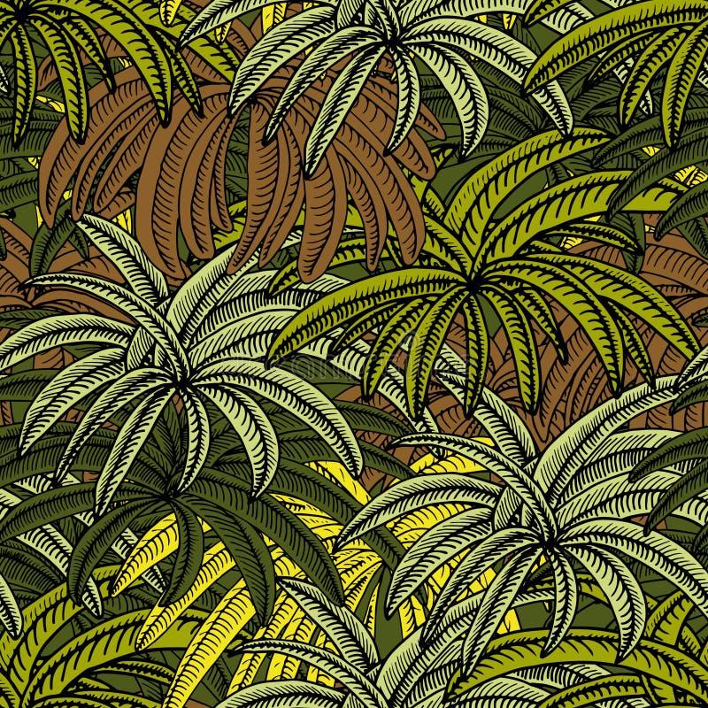 Donde están las palmeras ilustración del vector
