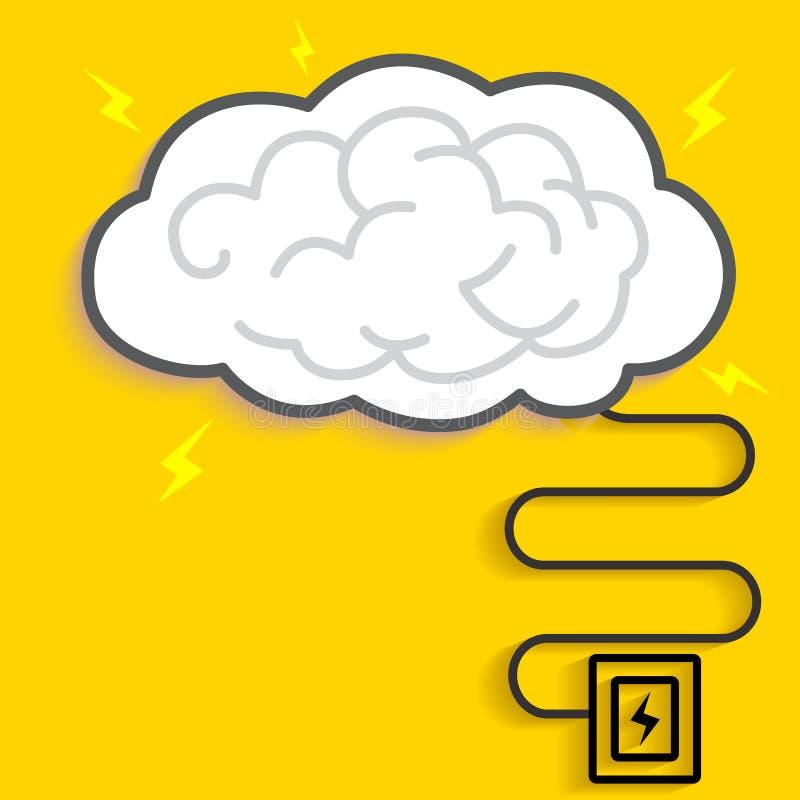 Donder Brain Charging royalty-vrije illustratie