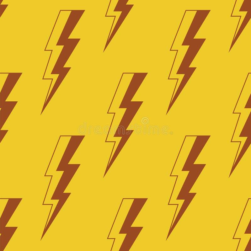 Donderverlichting Naadloos vectorpatroon vector illustratie