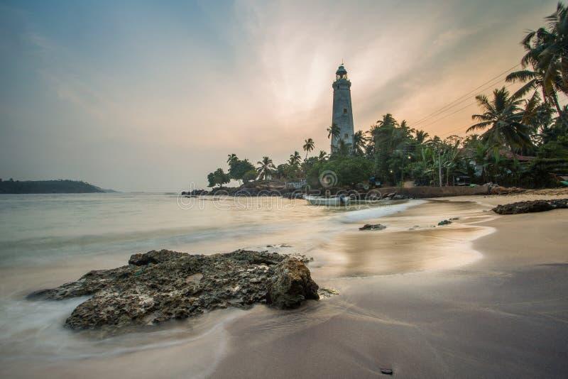 Dondra Head Lighthouse,Sri Lanka. Sunrise over Dondra Lighthouse,Sri Lanka royalty free stock photo