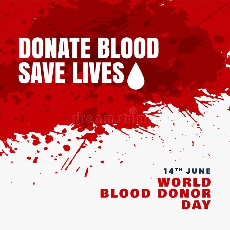 Done el fondo de las vidas de la reserva de la sangre ilustración del vector