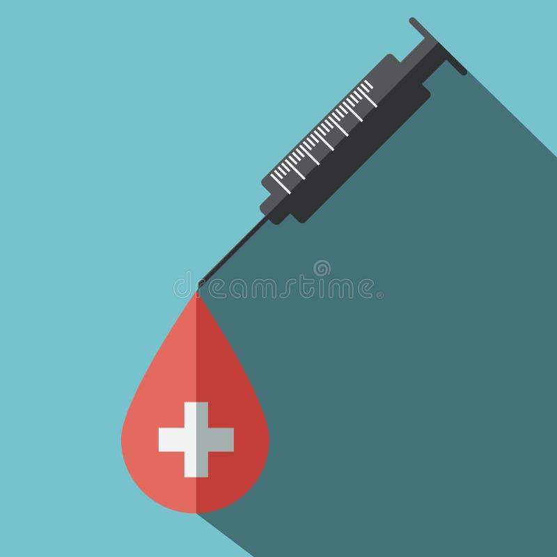 Done el icono plano de la sangre libre illustration