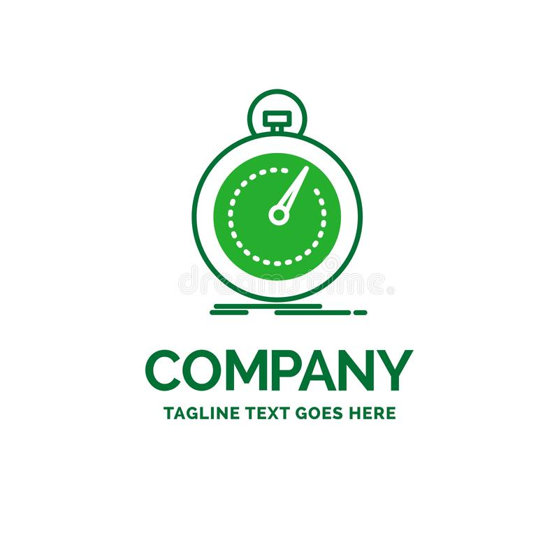 Done, fast, optimization, speed, sport Flat Business Logo templa vector illustration