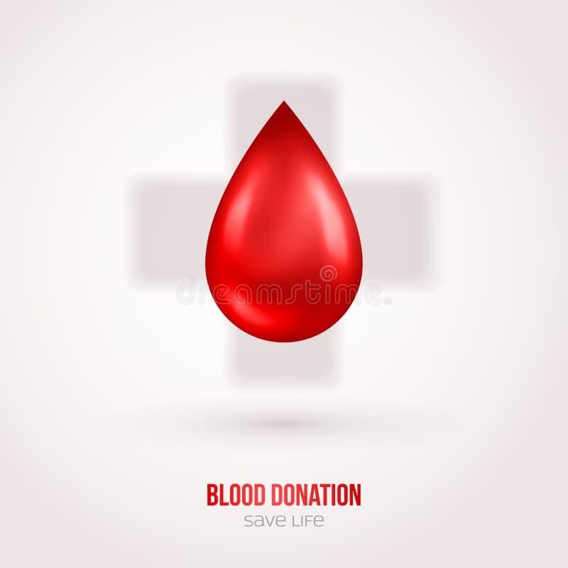 Done la muestra de la sangre del descenso con la sombra stock de ilustración