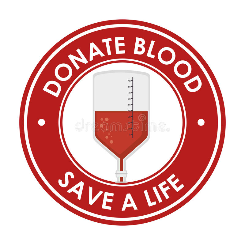 Done la reserva de la sangre una insignia de la vida libre illustration