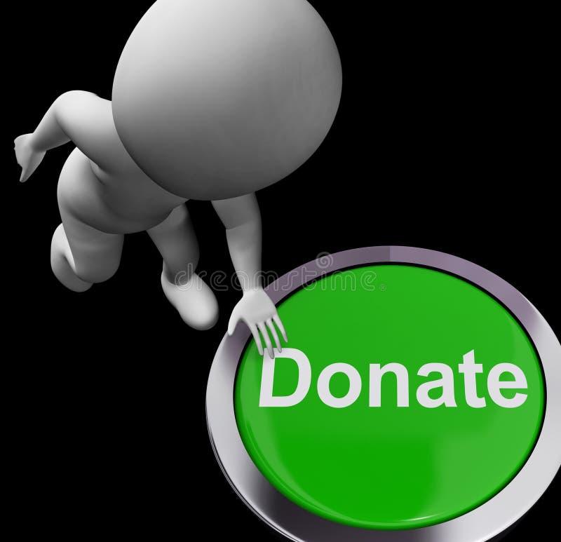 Done las donaciones de la caridad de las demostraciones del botón y Fundraising ilustración del vector