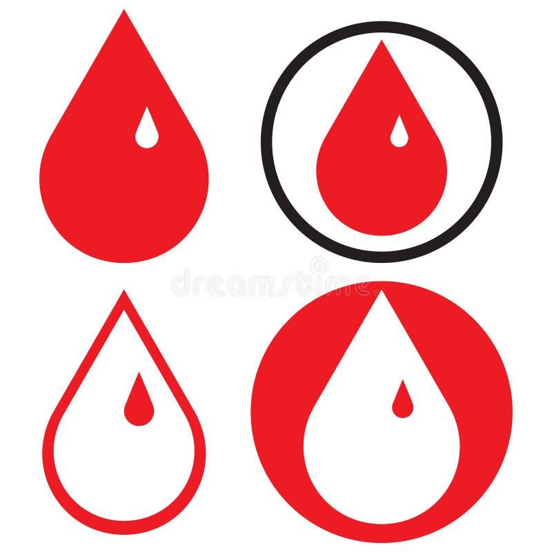 Done las gotas de sangre - ejemplo del vector libre illustration