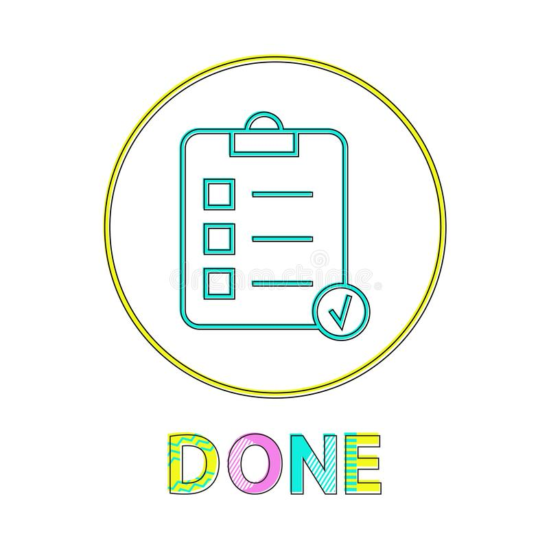 Done List of Things to Do Vector Illustration stock illustration