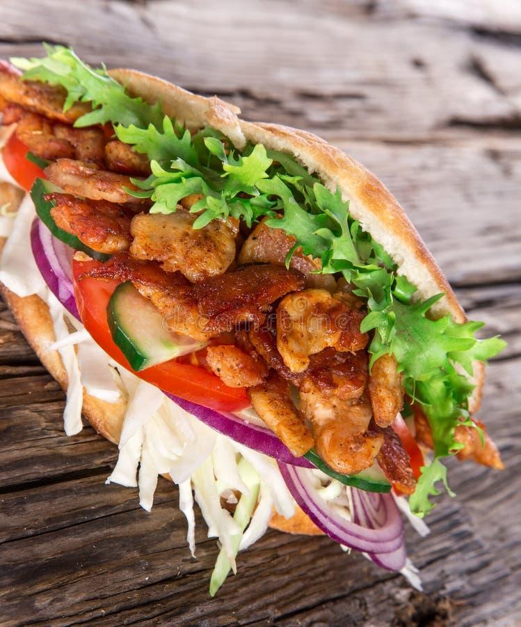 doner食物kebab传统土耳其 免版税库存图片