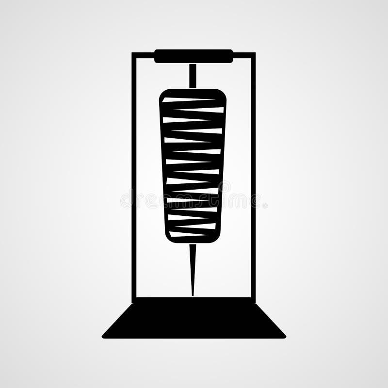 Doner e ícone liso isolado kabab ilustração royalty free