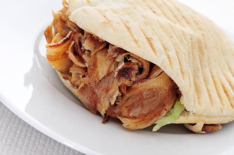 Doner kebab royalty free stock images
