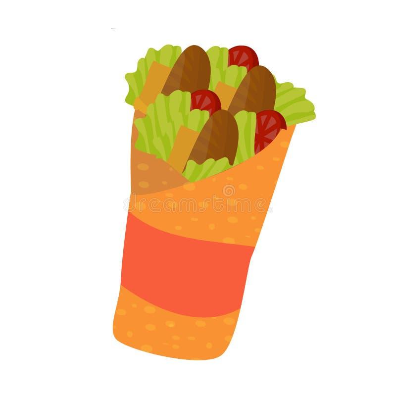 Doner shawarma lub kebab ilustracji