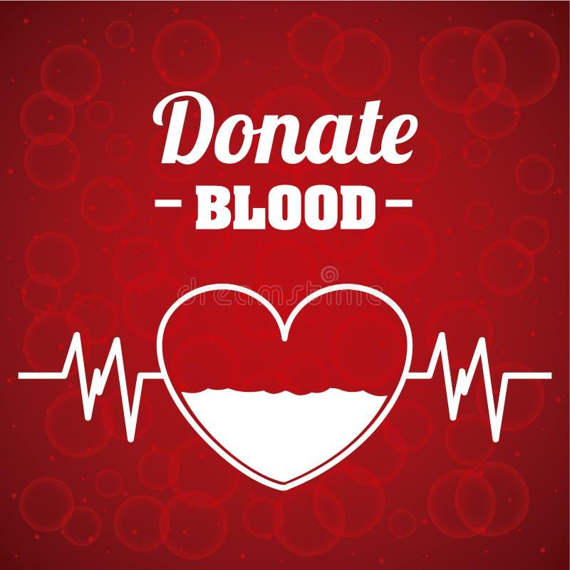 Donera bloddesignen stock illustrationer