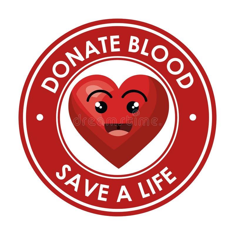 Donera blodsjukvårdsymbolen stock illustrationer