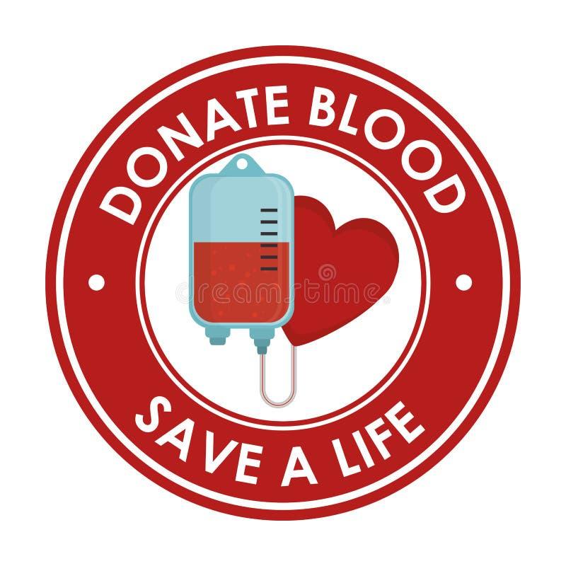Donera blodsjukvårdsymbolen royaltyfri illustrationer