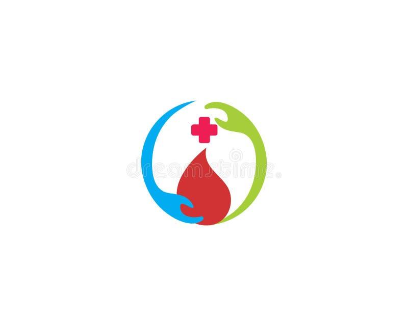 Donera blodsymbolen med medicinsk design royaltyfri illustrationer