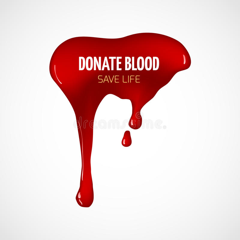 Donera blodvektoraffischen royaltyfri illustrationer