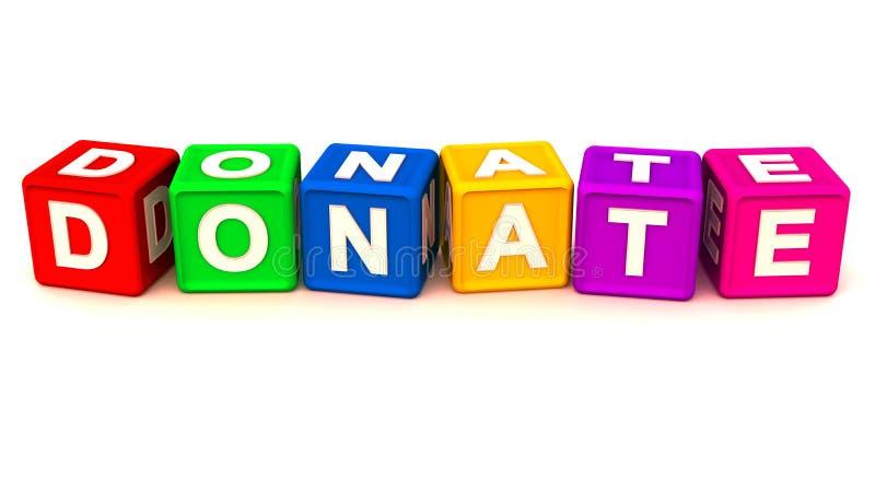 Donera eller välgörenhet royaltyfri illustrationer