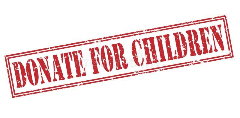 Donera för röd stämpel för barn vektor illustrationer
