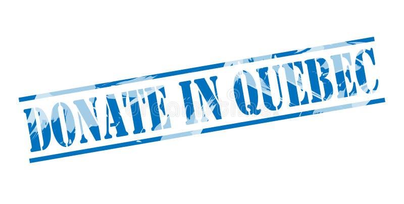 Donera i Quebec blåttstämpel stock illustrationer