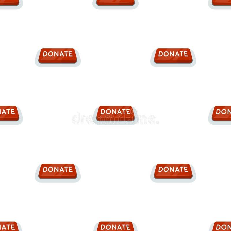 Donera knappsymbolen i tecknad filmstil som isoleras på vit bakgrund Illustration för vektor för välgörenhet- och donationsymbolm stock illustrationer