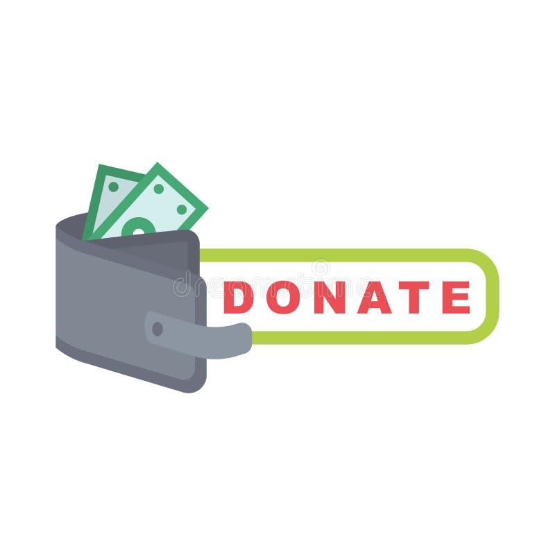 Donera knappuppsättningen Hjälpsymbolsdonation royaltyfri illustrationer