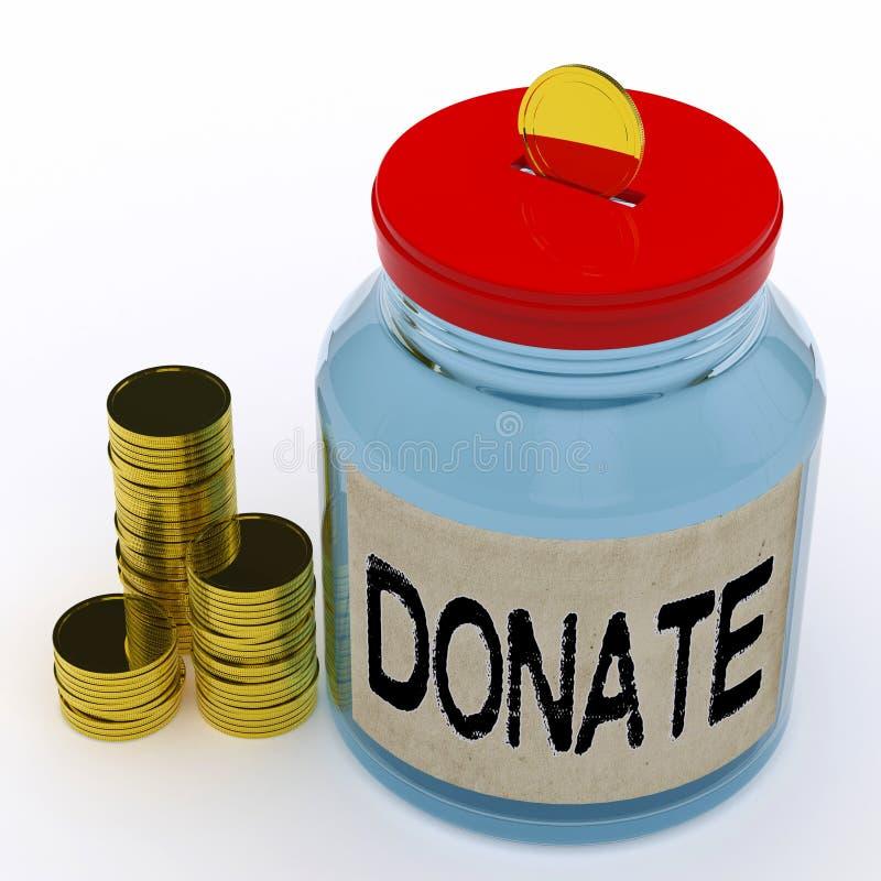Donera välgörenhet och att ge sig för krushjälpmedelFundraiser stock illustrationer