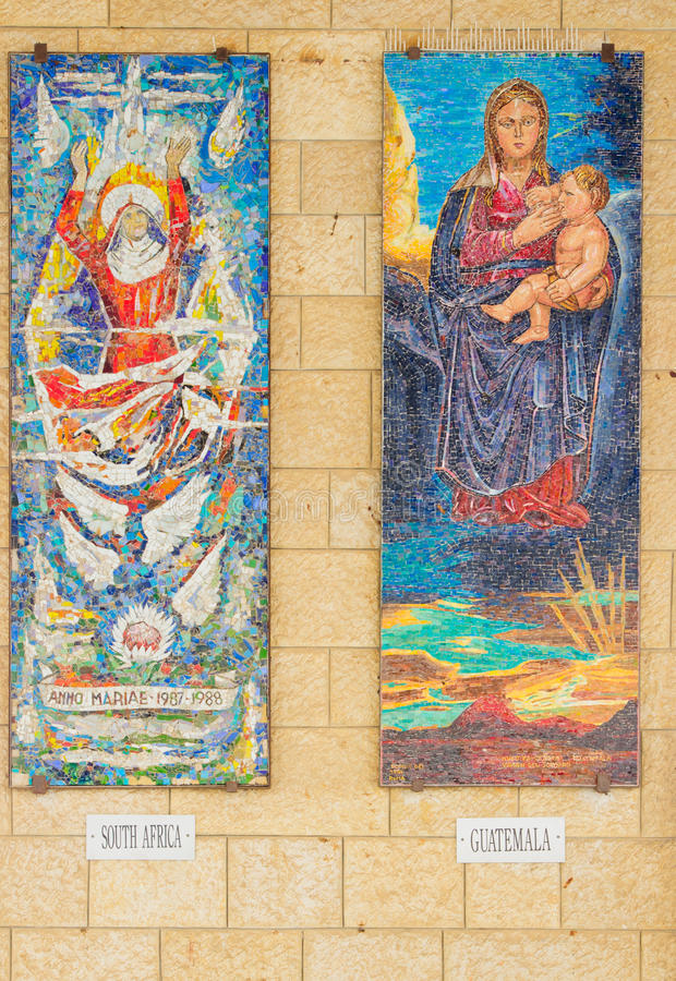 Donerad mosaik - kyrkan av förklaringen royaltyfri fotografi