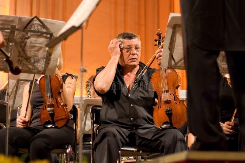 Donetsk-Opern-Orchesterschweiß stockbilder
