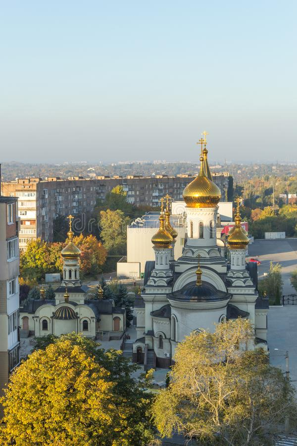 Free Donetsk, Ukraine, October 3, 2019 Year. Trinity Cathedral And Temple Of St. Blessed Xenia Of Petersburg In The Stock Photo - 160592920