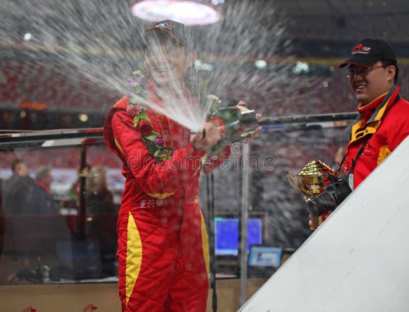 Dong él Compartimiento En La Raza De Campeones Pekín 2009 Imagen de archivo editorial
