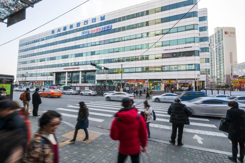 Dong Seoul Bus terminal fotografering för bildbyråer