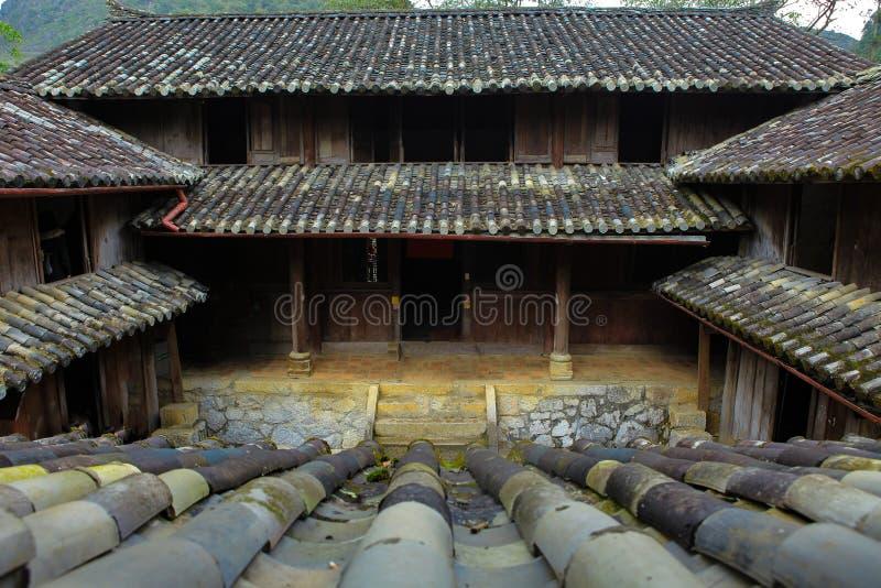 DONG VAN, Ha GIANG, VIETNAM, 20 Oktober, 2018: Het Herenhuis Legendarisch Ha Giang, Vietnam van Vuong Family stock afbeelding