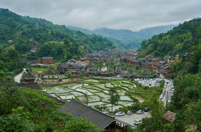 Dong Village, Guizhou, China lizenzfreies stockbild