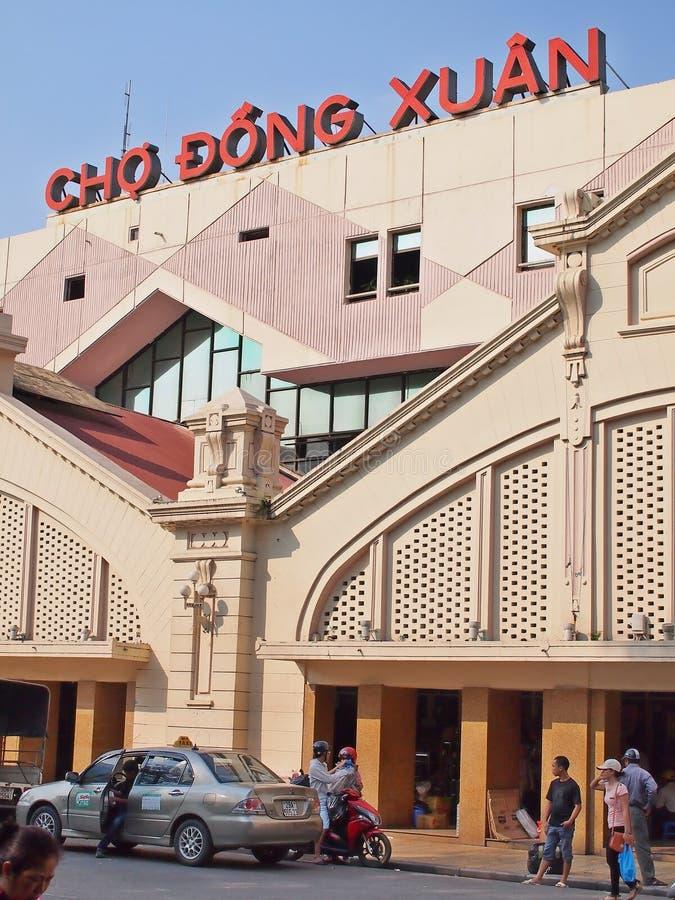 Dong Xuan marknad arkivbild