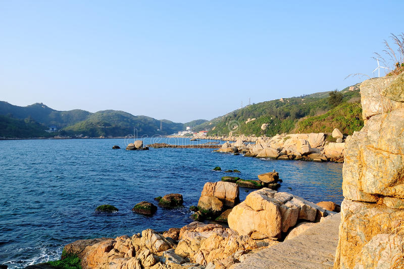 Dongao island coast stock photos