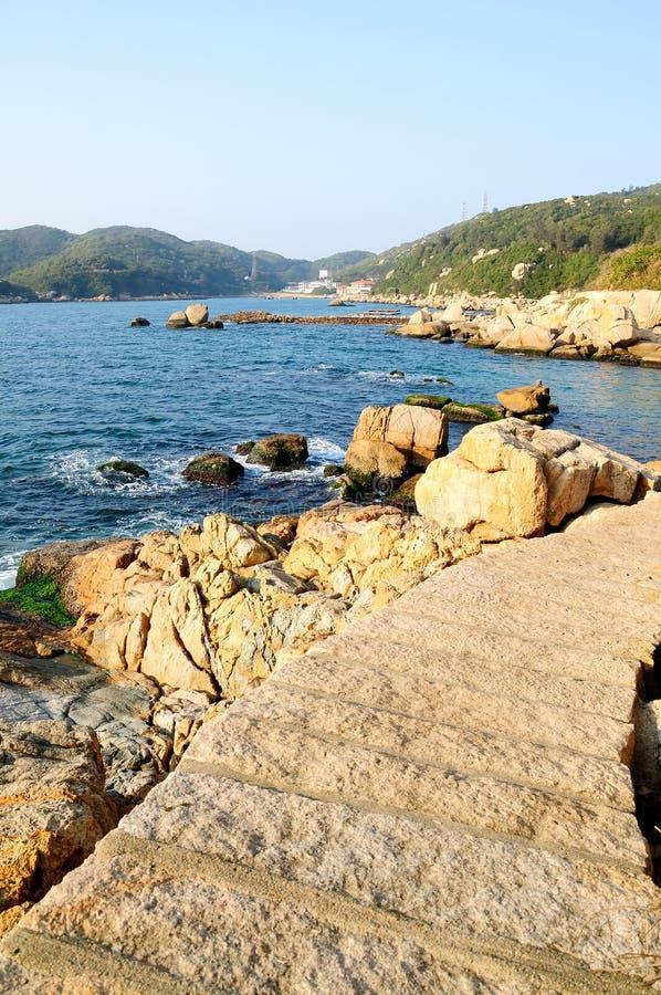 Dongao island coast stock image