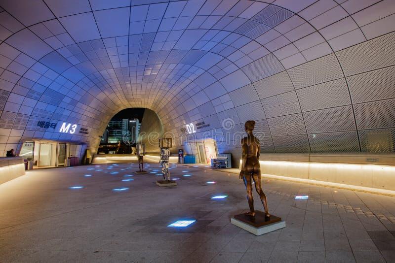 Dongdaemun设计广场在汉城,韩国 图库摄影