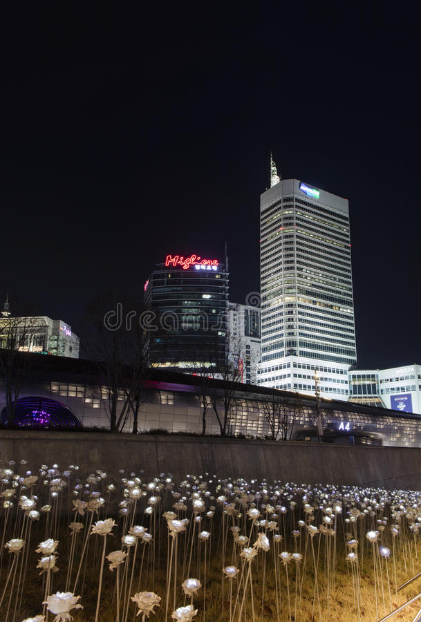 Dongdaemun设计广场在汉城,韩国 库存照片