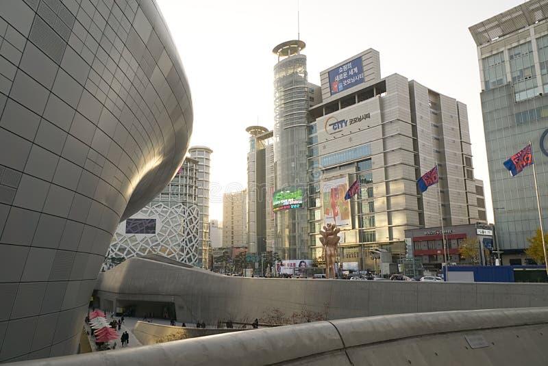 Seoul, South Korea October 09, 2017. Dongdaemun design plaza modern architecture royalty free stock images